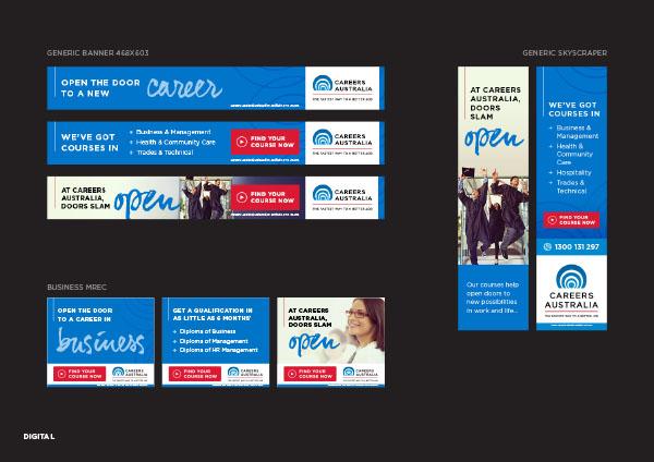 Careers Australia Digital Advertising