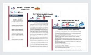 Netball Queensland Press Releases | Irene Watt | Marketing Consultant | Brisbane | Australia